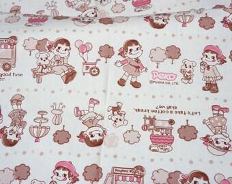 Peko Chan print Japanese Fabric Half meter