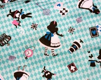 Alice In Wonderland Alice Tea Cup and Trump Print 100 cm by 106  cm ONE METER