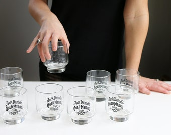 1970s Jack Daniel's Bar Glasses~Set of 8