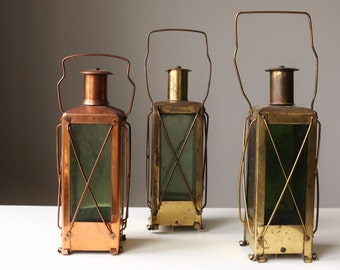 Vintage Handarbete Decanter Lanterns~Set of 3