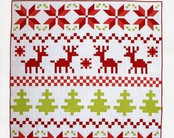 PATTERN CHRISTMAS QUILT Nordic Fair Isle Quilt