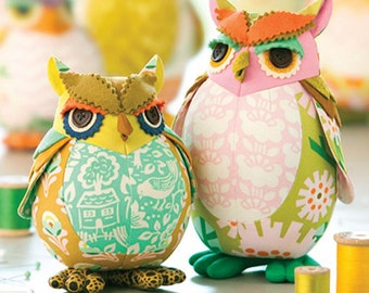 PATTERN EDGAR OWL And Poe Pincushions