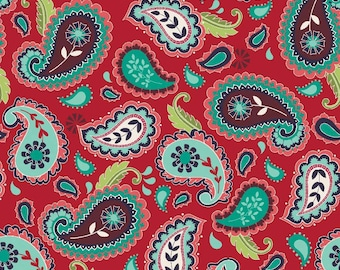 SALE ~ La Vie Boheme ~ Red Paisley Print ~ by The Quilted Fish for Riley Blake Designs ~ 100% woven cotton by the yard