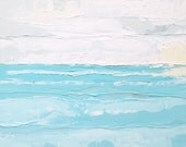 Abstract Ocean painting: Overcast Day, abstract painting, oil painting, beach art, cloudy skies, ocean art