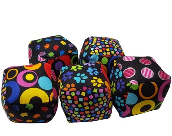 Soft Baby Blocks in Black and Bright Prints