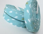 Organic Bias Tape - Raindrops - 3 Yard Bundle