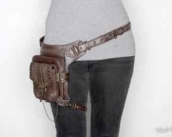BLASTER 3.0 Brown Leather Shoulder Holster and Hip Bag Fanny Pack