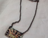 Obey me hand made crown necklace