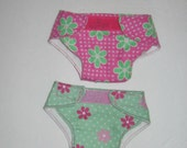 Doll Diapers, set of 2, fit Bitty Baby and other baby dolls