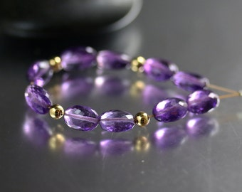 10 AAA 7mm Amethyst Oval Beads