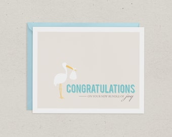 Baby Card | Greeting Card | Congratulations | Baby Boy