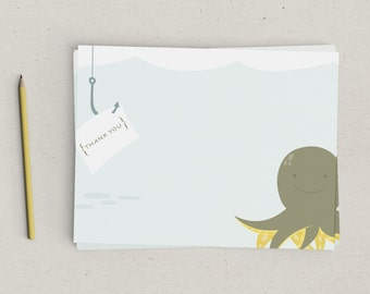 Clearance | Thank You Notes | Octopus | Stationery | Ocean