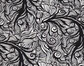 Frond Design Studios INK Sprawl in Black and White - Half Yard