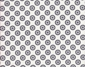 Michael Miller Wheel Dot in Dark Gray on White -  End of Bolt - 1 Yard 6 Inches Left