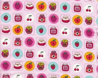 Timeless Treasures Jam and Jelly in Pink - Half Yard