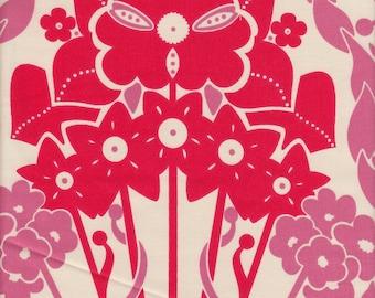 Free Spirit Fabrics Anna Maria Horner Hand Drawn Garden Nouveau in Petal - Half Yard