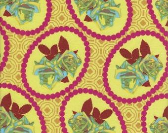 Free Spirit Fabrics Anna Maria Horner Hand Drawn Garden Waltz in Coral - Half Yard