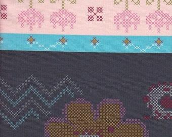 Free Spirit Fabrics Anna Maria Horner Loulouthi Needleworks Crossing Paths in Dapper - Half Yard
