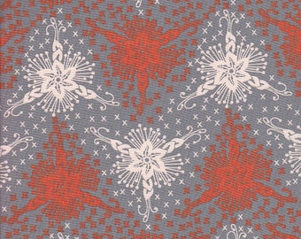 Free Spirit Fabrics Anna Maria Horner Loulouthi Triflora in Silver - End of Bolt - 1 Yard 18 Inches Left