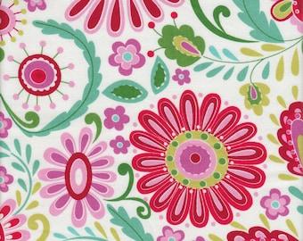 Free Spirit Fabrics Dena Designs Love & Joy Daisy in Green - Half Yard