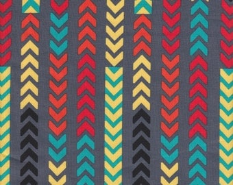Robert Kaufman Sierra Chevron Stripe in Fiesta - Half Yard