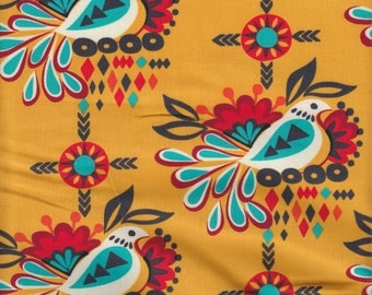 Robert Kaufman Sierra Folk Bird in Fiesta - Half Yard