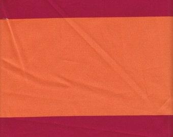 SALE - Free Spirit Fabrics Vicki Payne Home Decor For Your Home Stripes SATEEN in Pumpkin - Half Yard