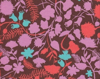 Moda Fabrics Sugar Pop Floral Silhouette in Brown - Half Yard