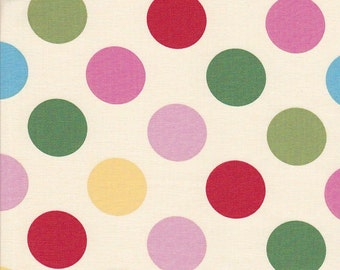 SALE - In The Beginning Fabrics Home To Roost Big Dots in Cream - End of Bolt - 36 Inches Left