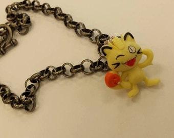 Meowth Pokemon Necklace