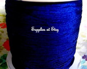 Navy Blue Silky Nylon cord bracelet/diy knotting Jewelry/beading cord .8-Dark Blue like silky Great Quality DIY Macrame,Shambhala Bracelet