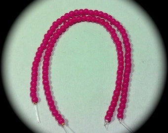 Dark Pink Glass Beads  #5 craft Supplies  beading supplies  diy necklace bracelet earrings boho native ethnic cottage chic