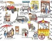 Single Paris Map: mailed (flat) from Paris + Paris souvenirs