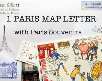 1 PARIS MAP LETTER of your choice from Paris