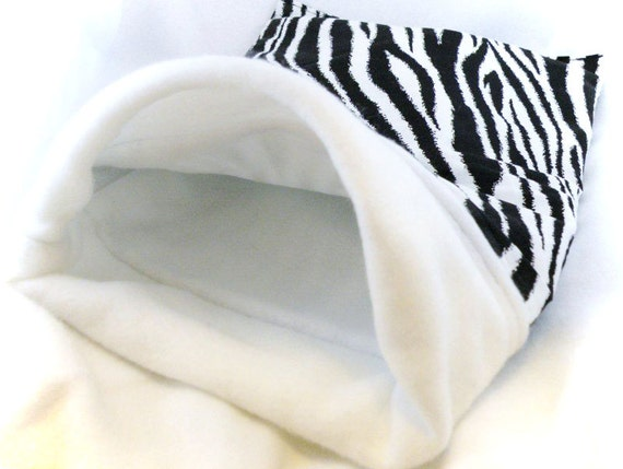 Zebra Print Little Critter Plush Snuggle Sleep Sack Bed for Your Favorite Little Pet