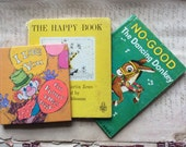 Three vintage Childrens Books the happy book dancing donkeys I like you