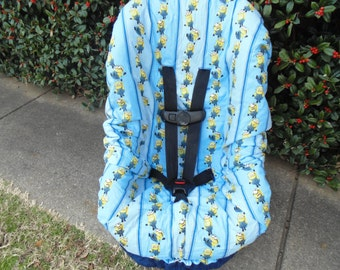 Minions toddler car seat cover- car seat not included