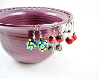 Large Earring holder, Jewelry Bowl, Jewelry holder, Purple - In stock G