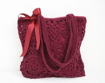 Crochet shoulderbag Rosemary