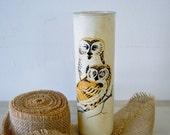 vintage owl vase or candleholder
