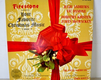 1960s vintage album / Firestone presents Your Favorite Christmas Music / Volume 4 / Collectors Album / Christmas music