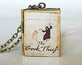 The Book Thief, Markus Zusak, Novel-Historical Fiction, New York Times Bestseller, Book Locket Necklace