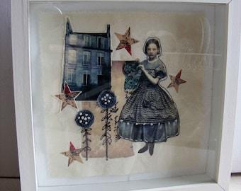 Inspired by Alice - Original handmade textile art.