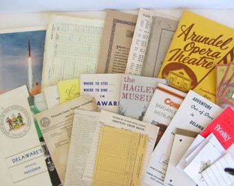 Vintage Papers Magazines for Art Supply Mixed Media Work Bundle of Papers