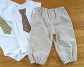 Gingham Bloomer Bubble Pants Britches Pantaloons for Baby Boys in YOUR CHOICE of colors - 6 months to size 8