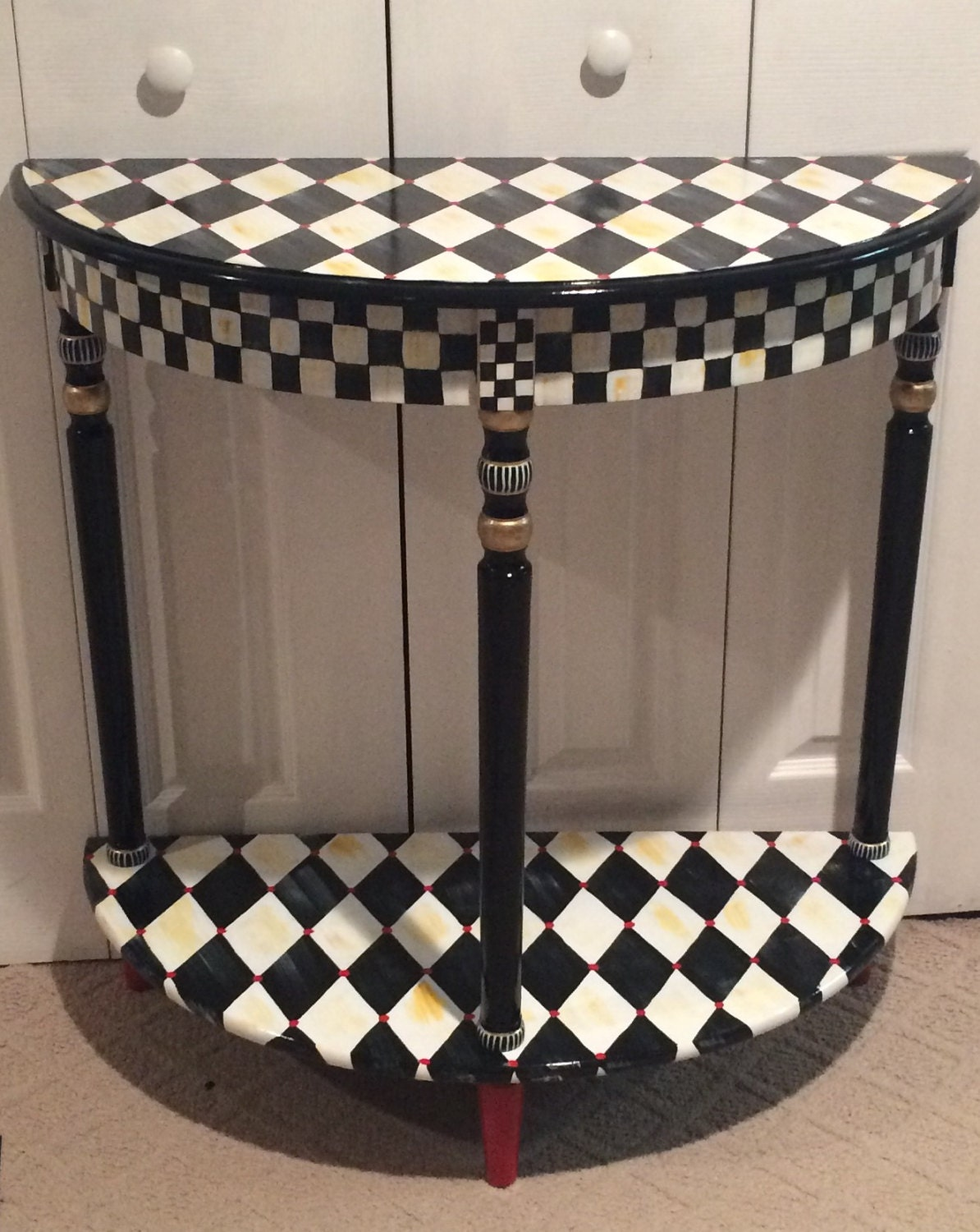Whimsical Painted Furniture Harlequin By Michelespraguedesign