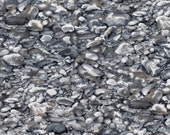 Grey Impressions Of Nature Stone Print 100% Cotton Quilting Fabric