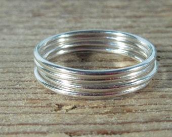 Ring Sterling Silver Plain - Stacking Rings, Finger Jewelry, Knuckle Rings, Thumb Rings, Smooth Rings, Sterling Silver Rings, Single Ring
