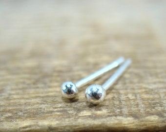 Stud Earrings Silver Ball - Ball Studs, Ball Posts, Silver Post Earrings, Minimalist Studs, Tiny Stud Earrings, Dainty Studs, Stud Earrings