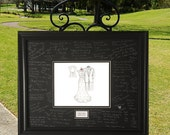 Wedding Guest Book Idea - 8 x 10 sketch - Wedding Gift, Wedding Gift From Groom To Bride